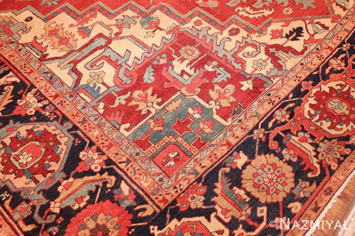 large antique persian heriz serapi rug 49162 design Nazmiyal