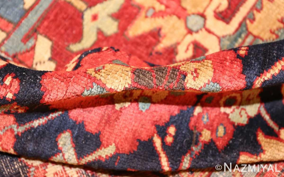 large antique persian heriz serapi rug 49162 pile Nazmiyal
