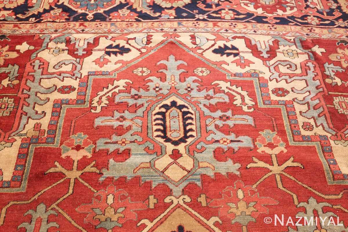 large antique persian heriz serapi rug 49162 top Nazmiyal