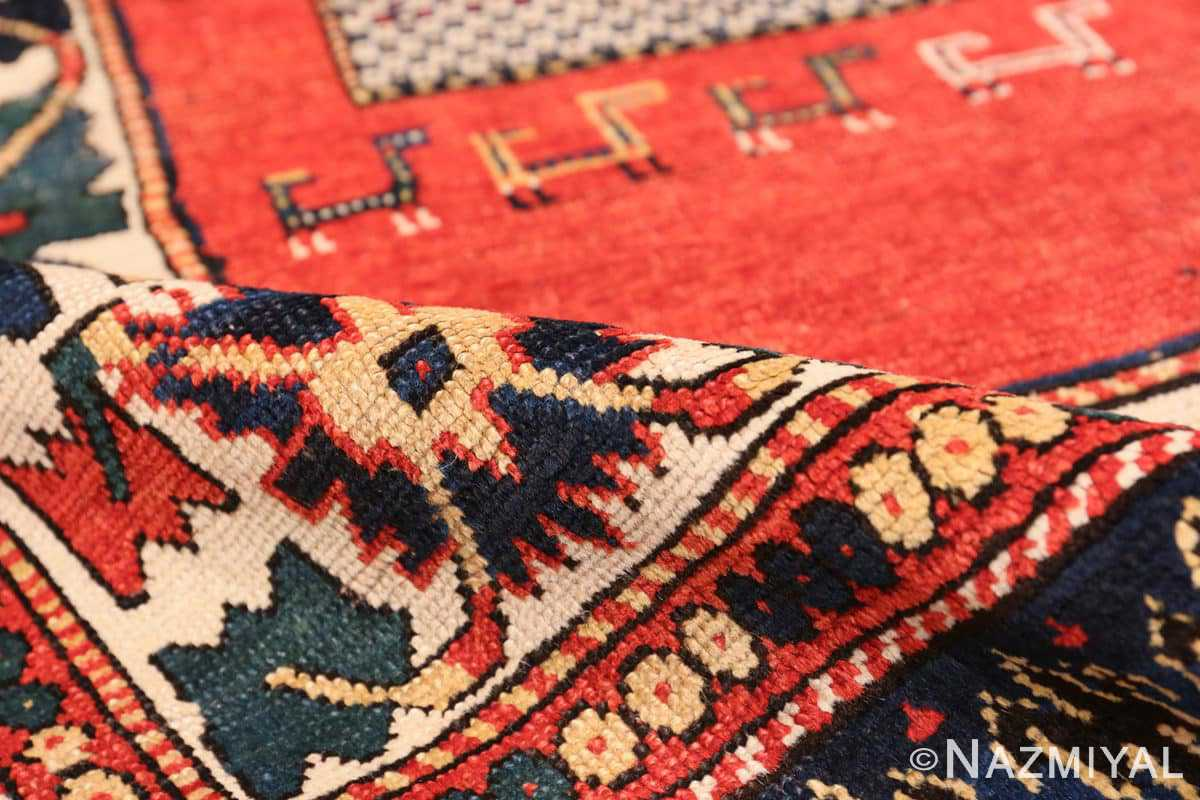 Pile Tribal rust Antique Caucasian Kazak rug 49090 by Nazmiyal