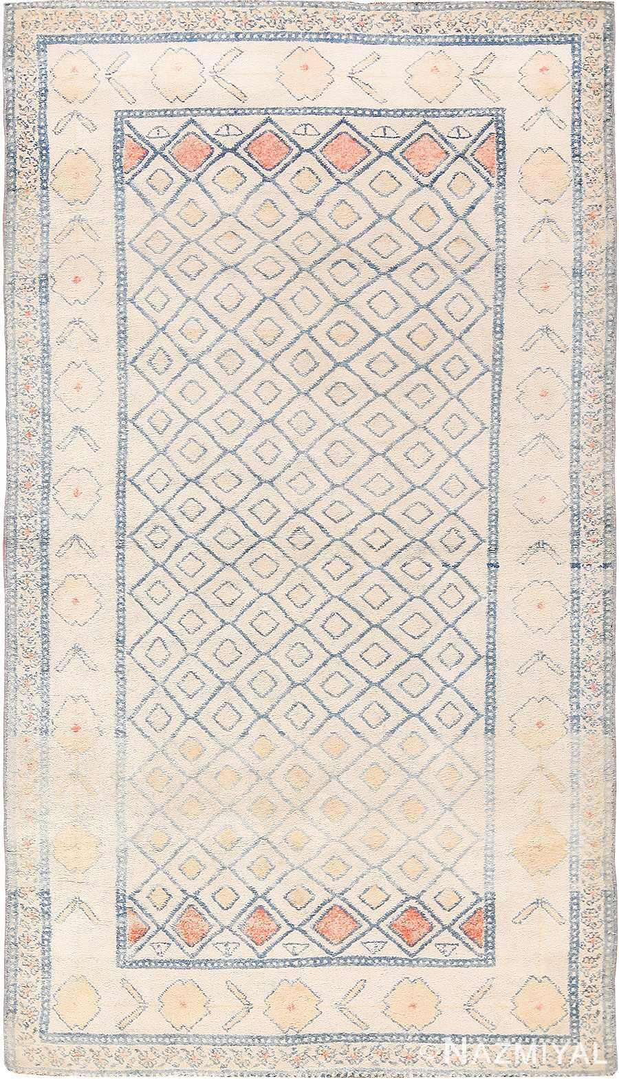 Small Decorative Antique Indian Cotton Agra Rug 49148 Nazmiyal