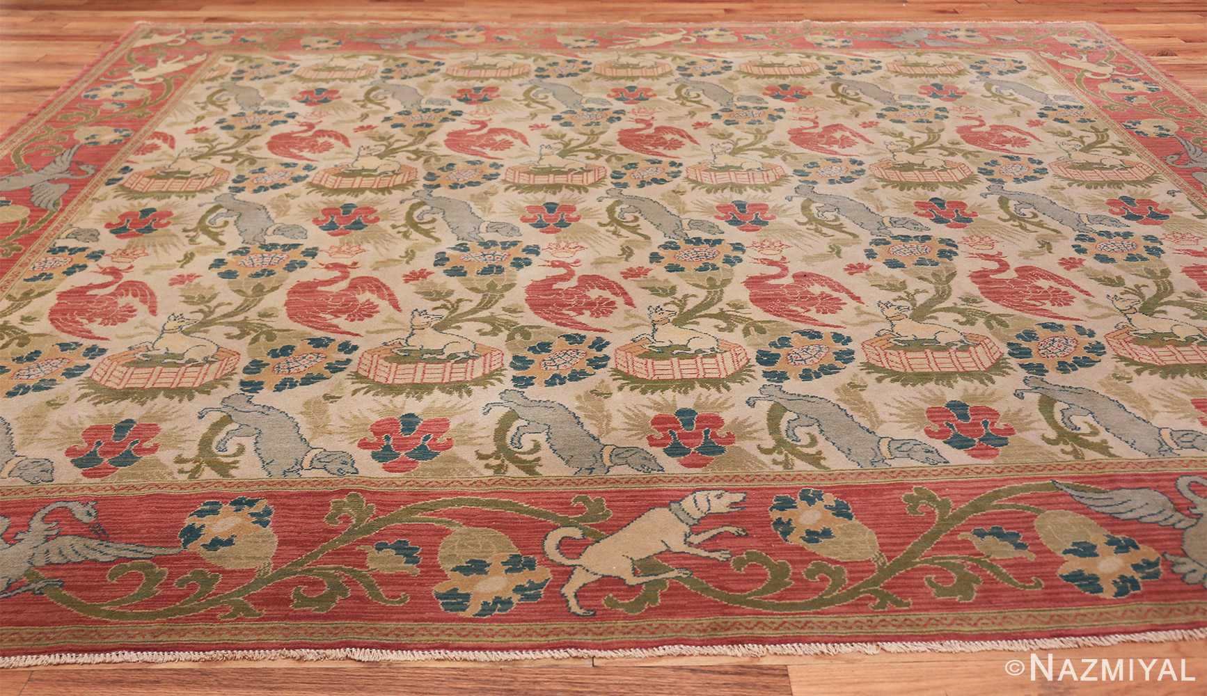 Antique Animal Motif Spanish Rug 49158 By Nazmiyal