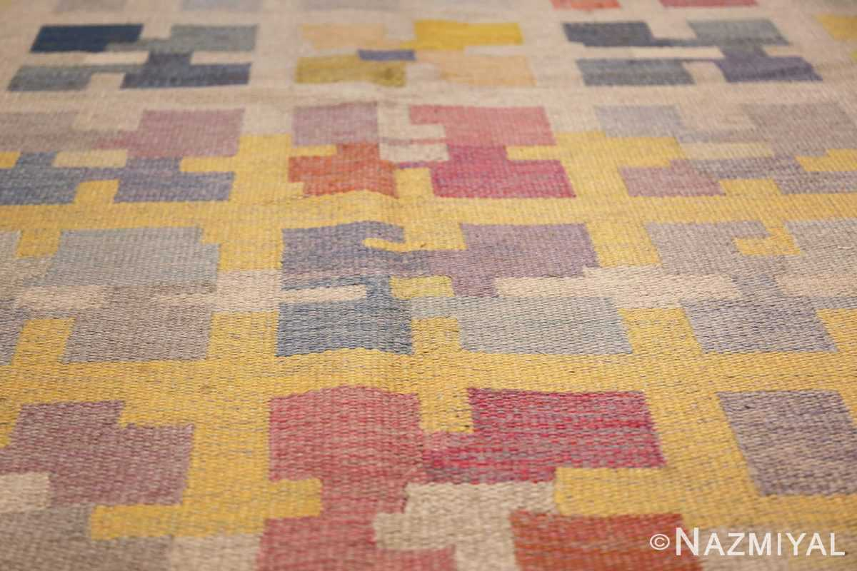 vintage scandinavian swedish kilim rug by agda osterberg 49123 blue Nazmiyal