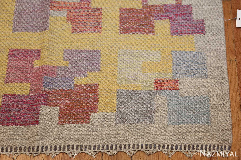 vintage scandinavian swedish kilim rug by agda osterberg 49123 corner Nazmiyal