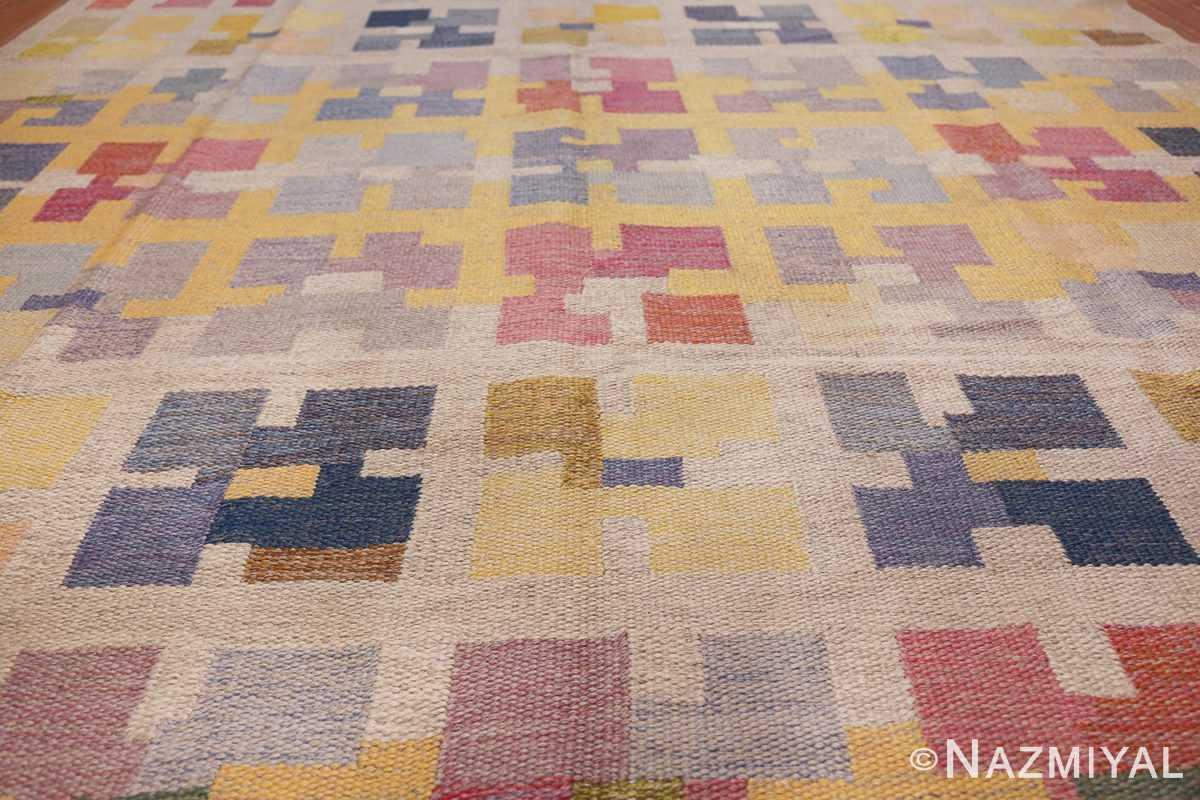 vintage scandinavian swedish kilim rug by agda osterberg 49123 field Nazmiyal