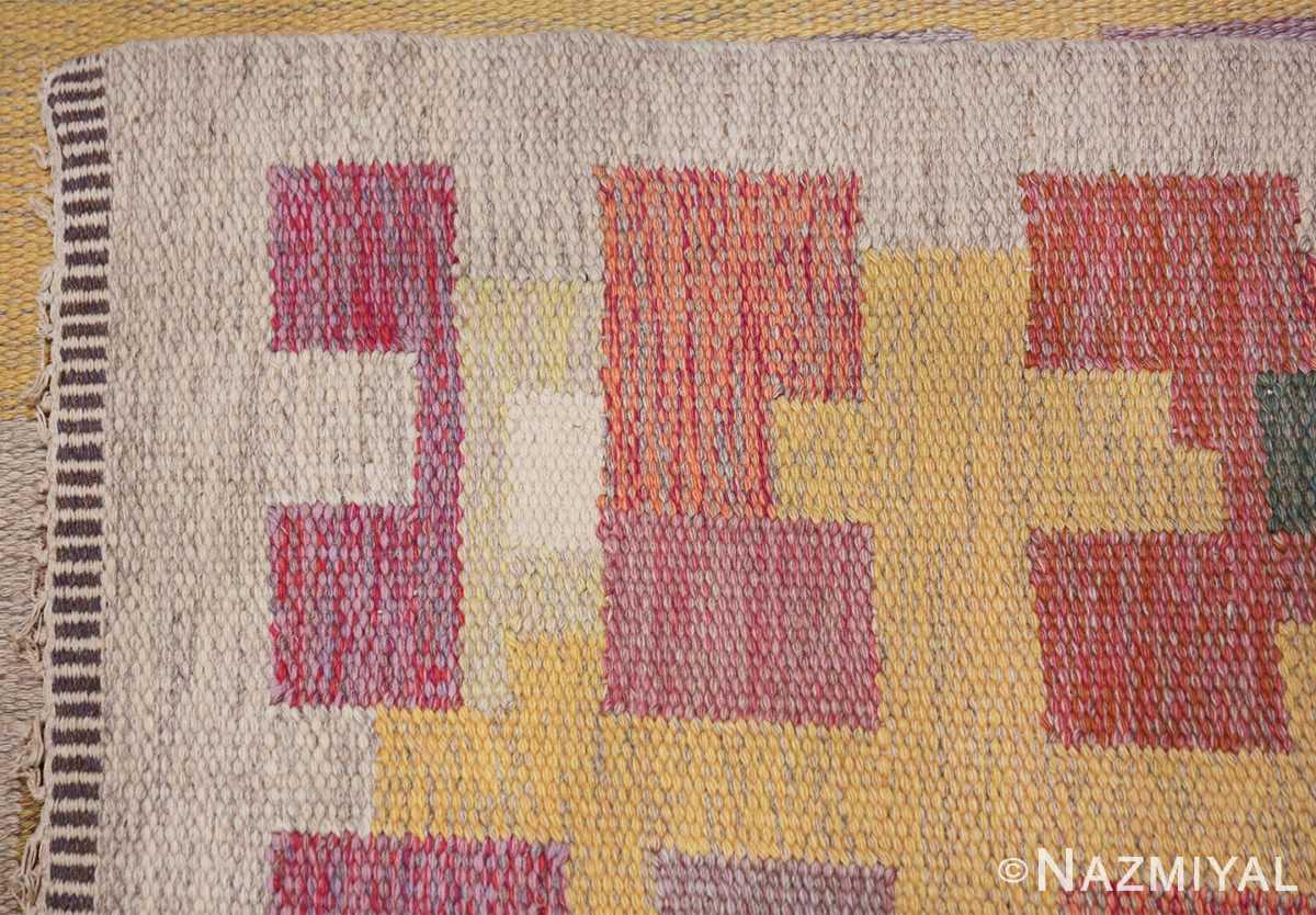 vintage scandinavian swedish kilim rug by agda osterberg 49123 knots Nazmiyal