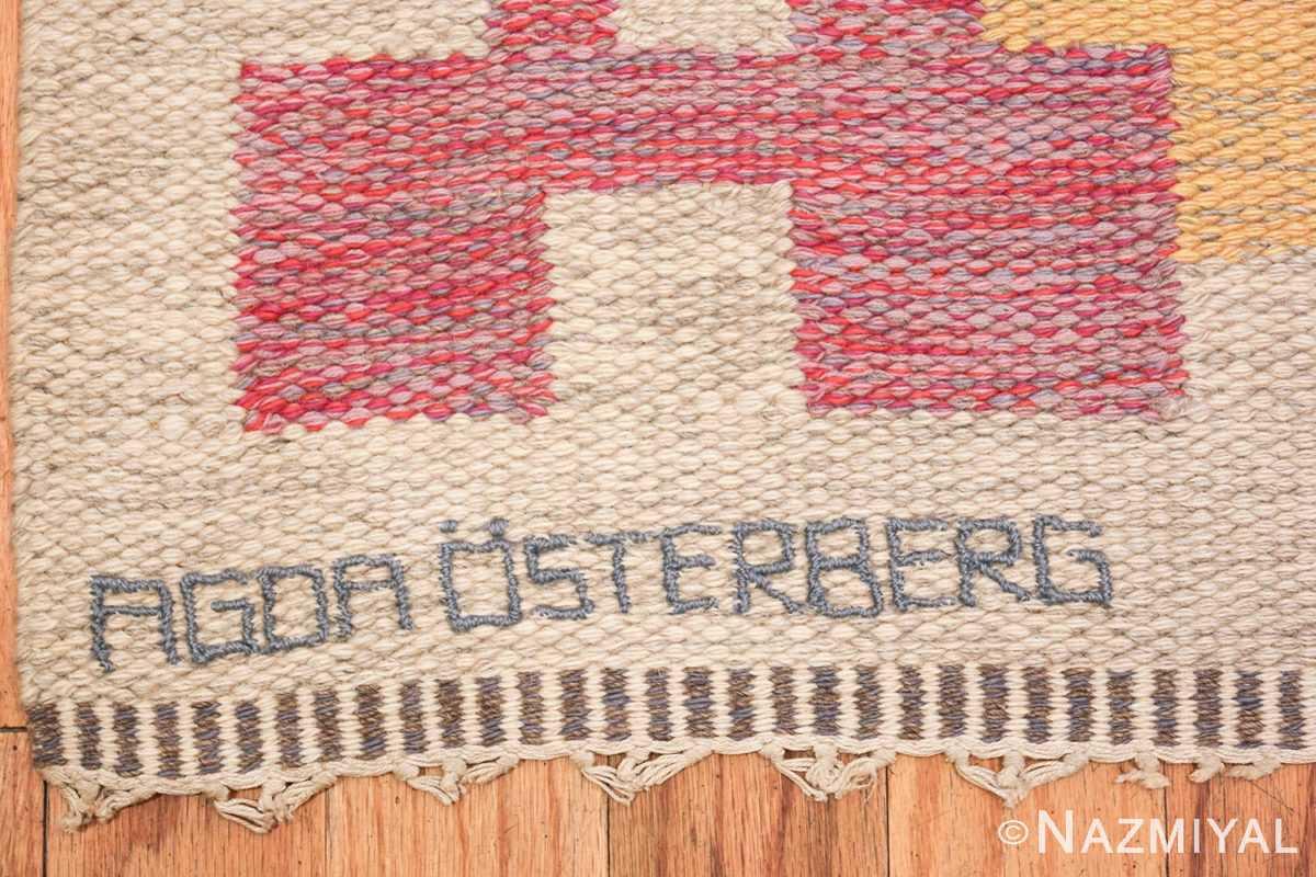 vintage scandinavian swedish kilim rug by agda osterberg 49123 name Nazmiyal