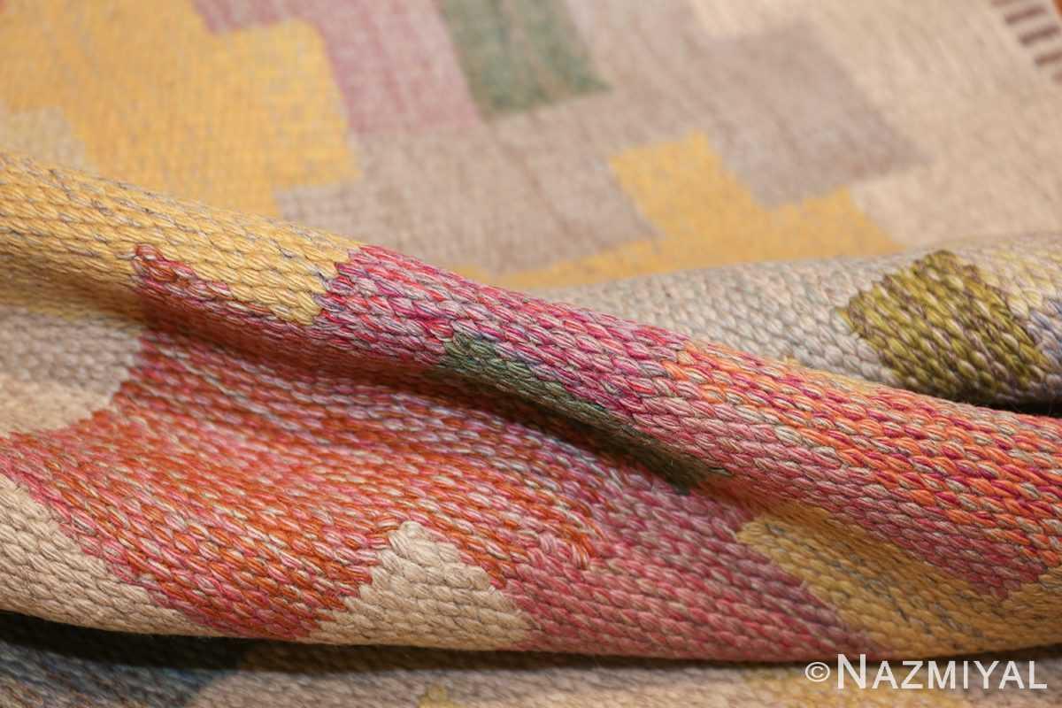 vintage scandinavian swedish kilim rug by agda osterberg 49123 pile Nazmiyal