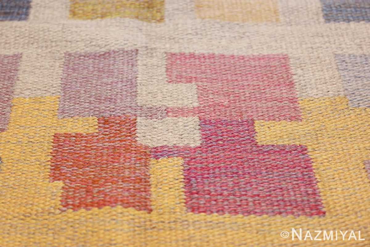 vintage scandinavian swedish kilim rug by agda osterberg 49123 pink Nazmiyal
