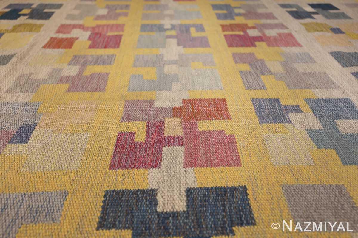 vintage scandinavian swedish kilim rug by agda osterberg 49123 rows Nazmiyal