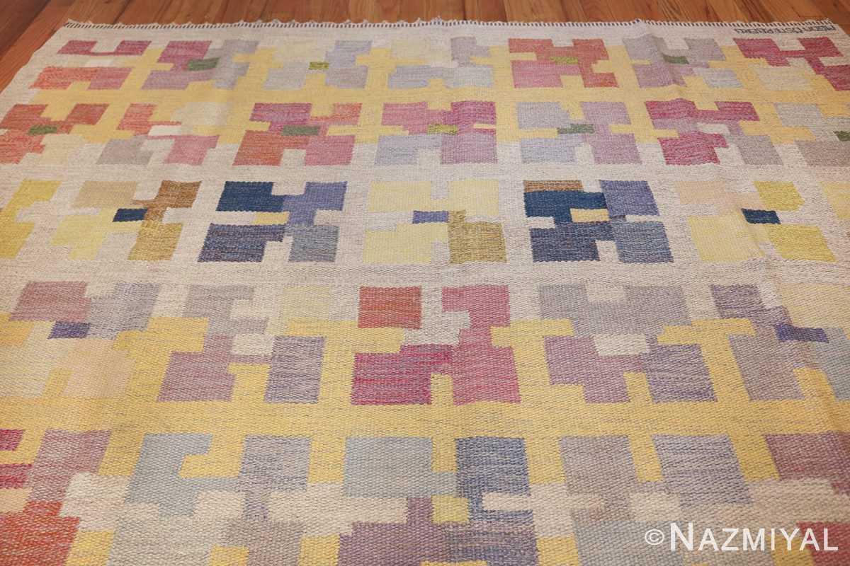 vintage scandinavian swedish kilim rug by agda osterberg 49123 top Nazmiyal