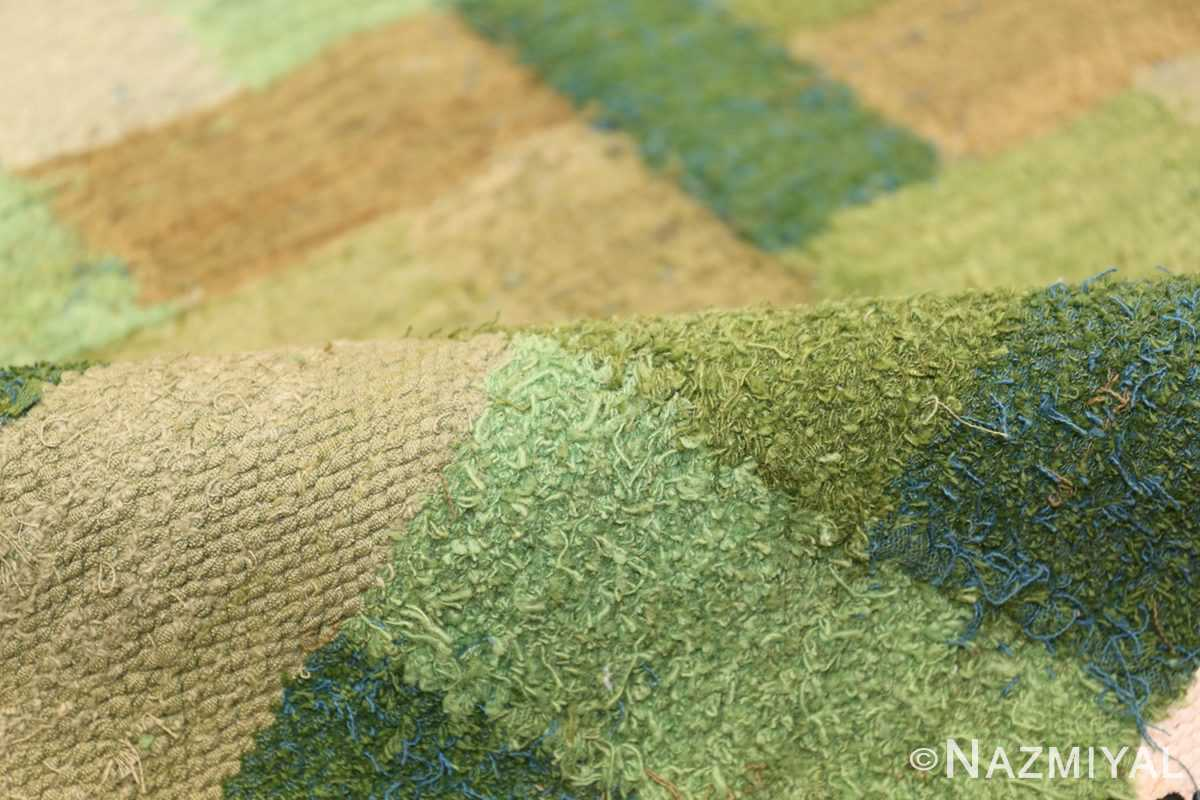 Vintage Scandinavian Swedish Rug by Ingrid Hellman Knafve 49114 Green Bushy Pile Nazmiyal