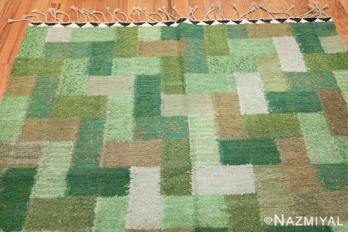 Vintage Scandinavian Swedish Rug by Ingrid Hellman Knafve 49114 Top Green Design Nazmiyal
