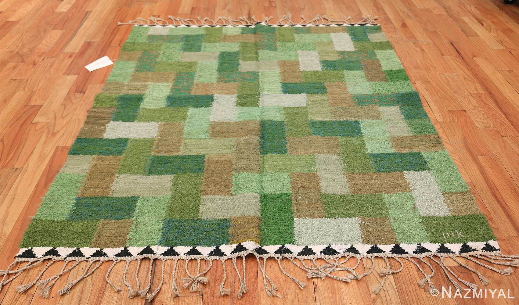 Vintage Scandinavian Swedish Rug by Ingrid Hellman Knafve 49114 Whole Design Nazmiyal