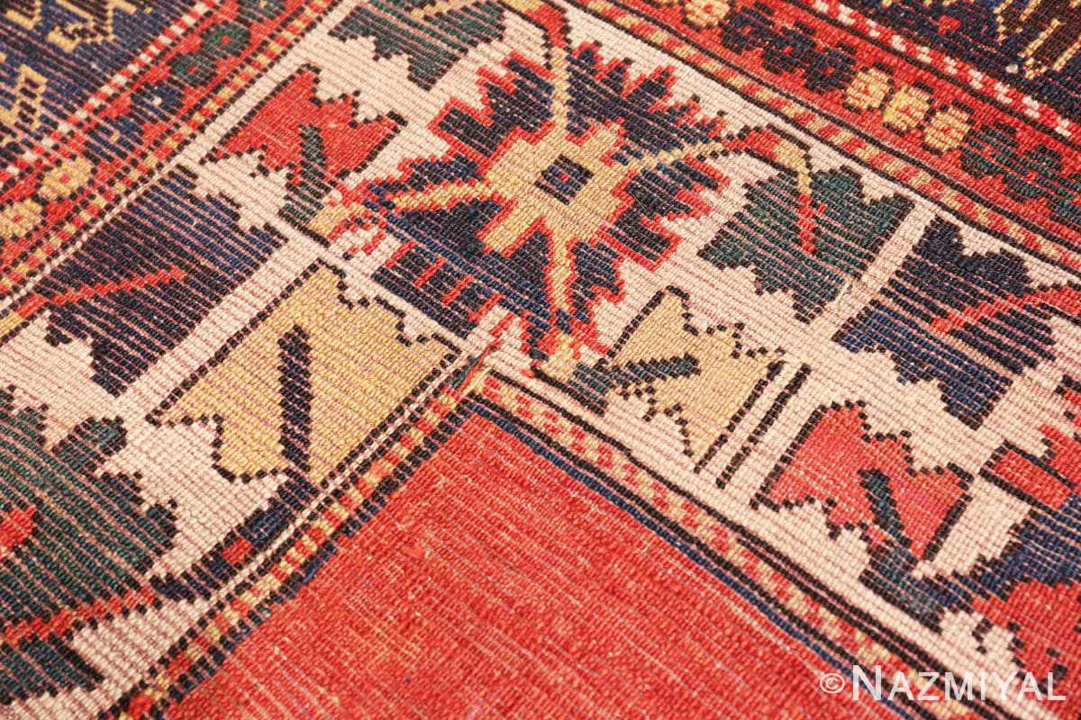 Weave Tribal rust Antique Caucasian Kazak rug 49090 by Nazmiyal
