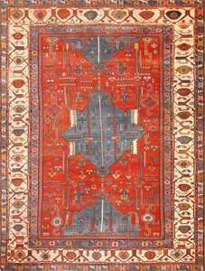 antique tribal persian bakshaish rug 49137 Nazmiyal