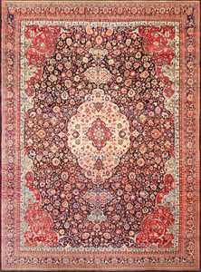 fine antique persian tehran rug 49194 Nazmiyal