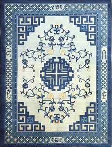 Light Blue Room Size Antique Peking Chinese Rug 49120 Nazmiyal