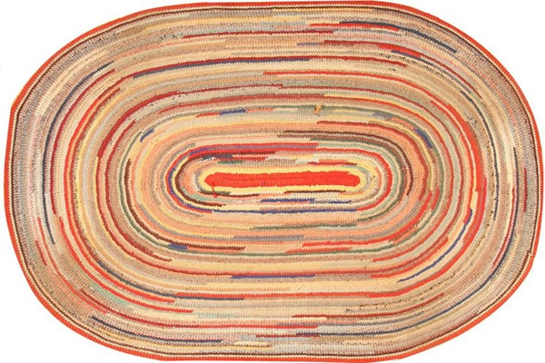 Vintage American hooked rug from our vintage rug collection