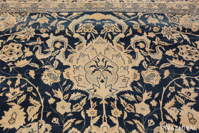 Antique Blue Indian Agra Rug 49171 Blue Vase Nazmiyal