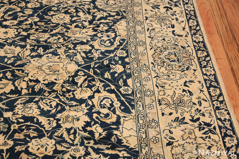 Antique Blue Indian Agra Rug 49171 Border Design Nazmiyal