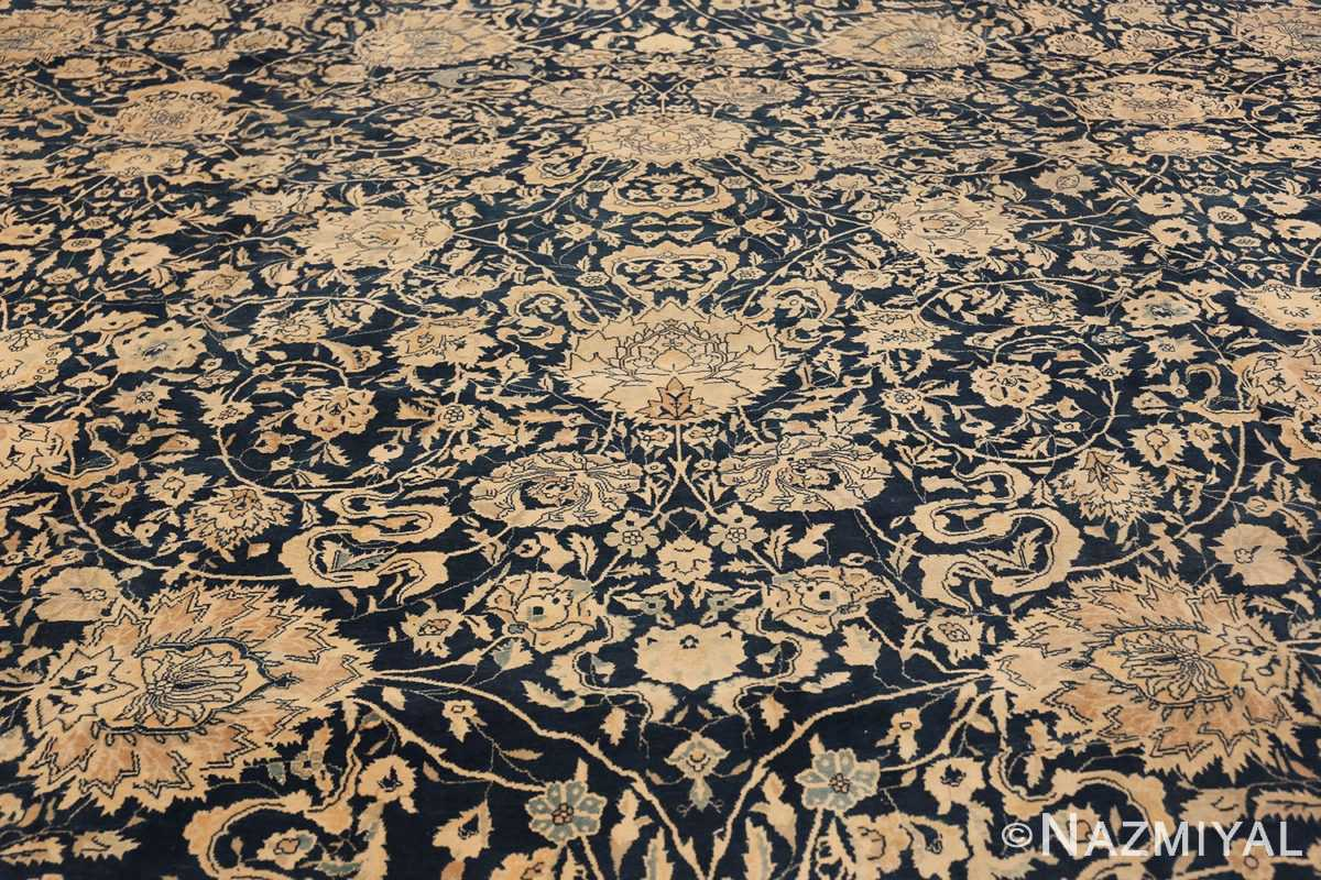 Antique Blue Indian Agra Rug 49171 Central Medallion Nazmiyal