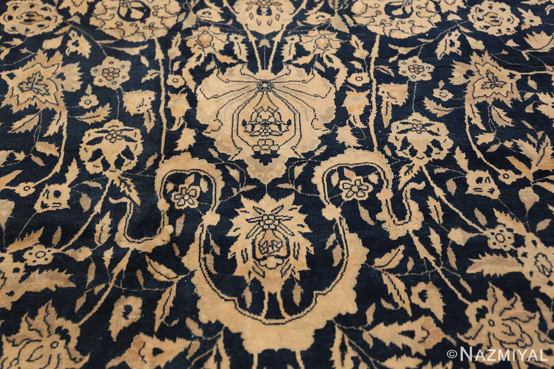 Antique Blue Indian Agra Rug 49171 Horse Shoe Nazmiyal