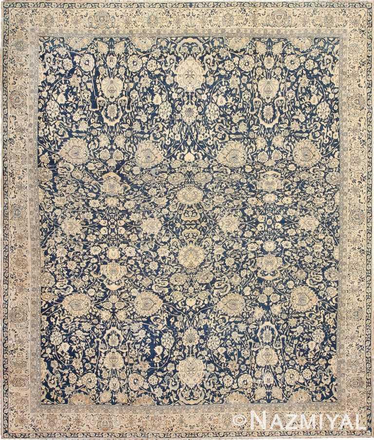 Antique Blue Indian Agra Rug 49171 Nazmiyal
