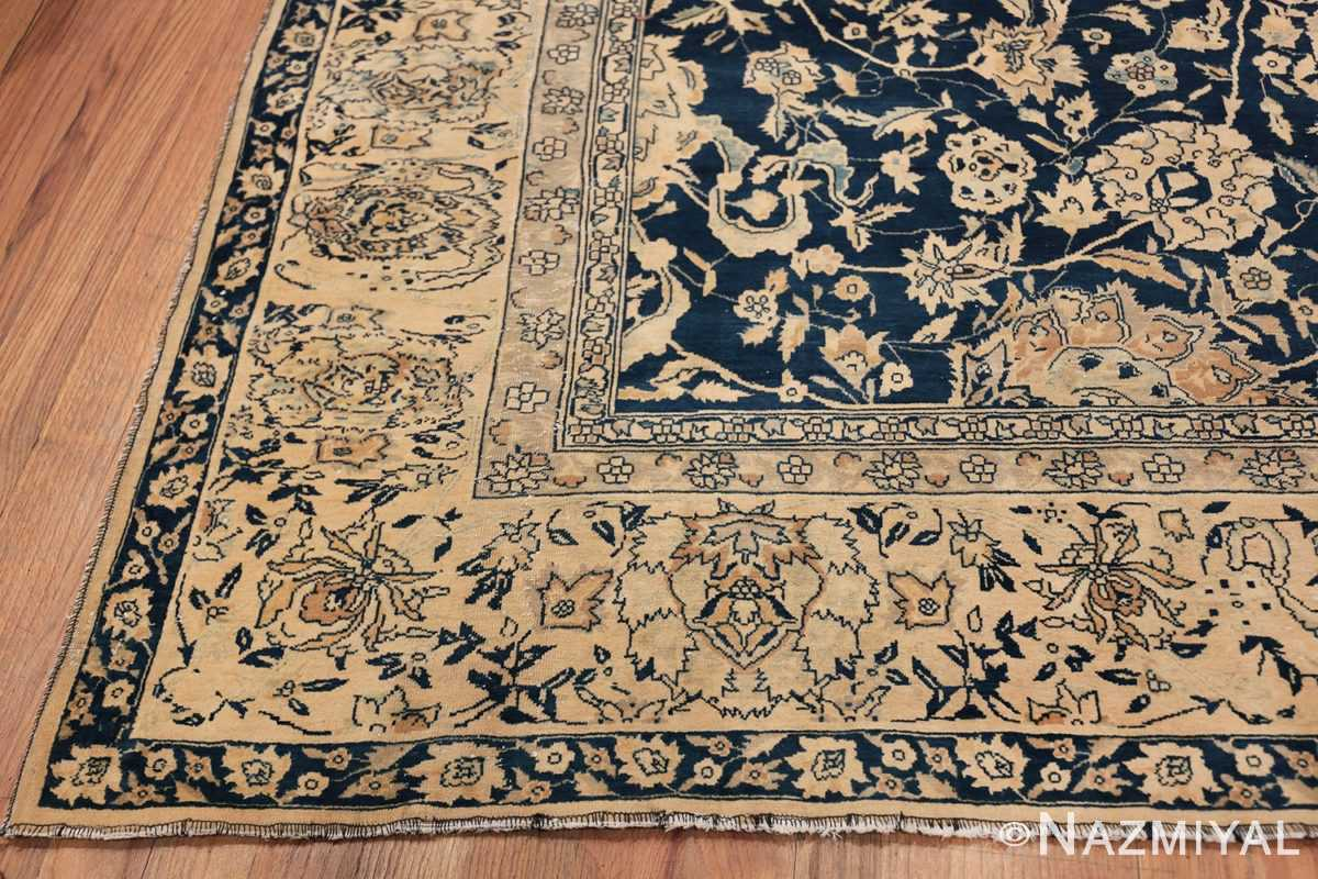 Antique Blue Indian Agra Rug 49171 Side Corner Nazmiyal