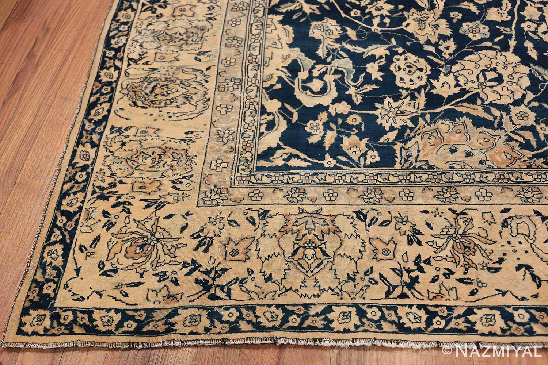 Antique Blue Indian Agra Rug 49171 Side Corner Nazmiyal