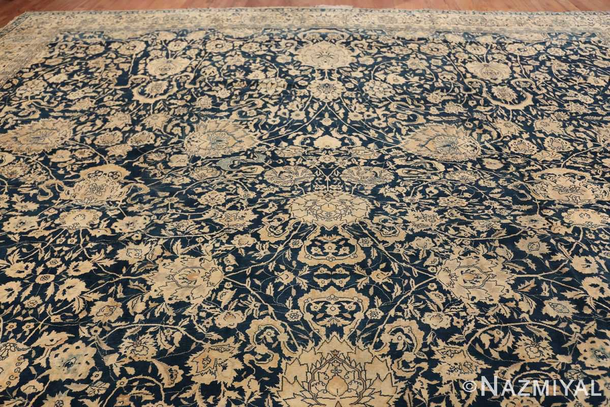 Antique Blue Indian Agra Rug 49171 Top Design Nazmiyal