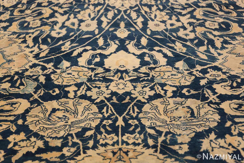Antique Blue Indian Agra Rug 49171 Triangle Nazmiyal
