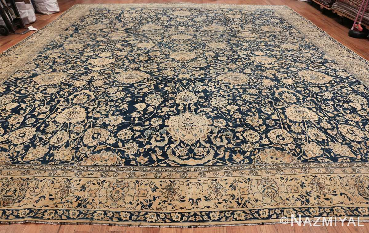 Antique Blue Indian Agra Rug 49171 Whole Design Nazmiyal
