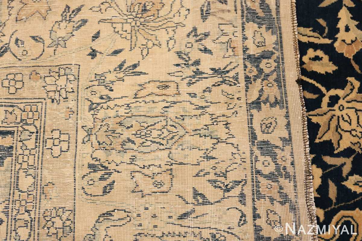 Antique Blue Indian Agra Rug 49171 Woven Knots Nazmiyal