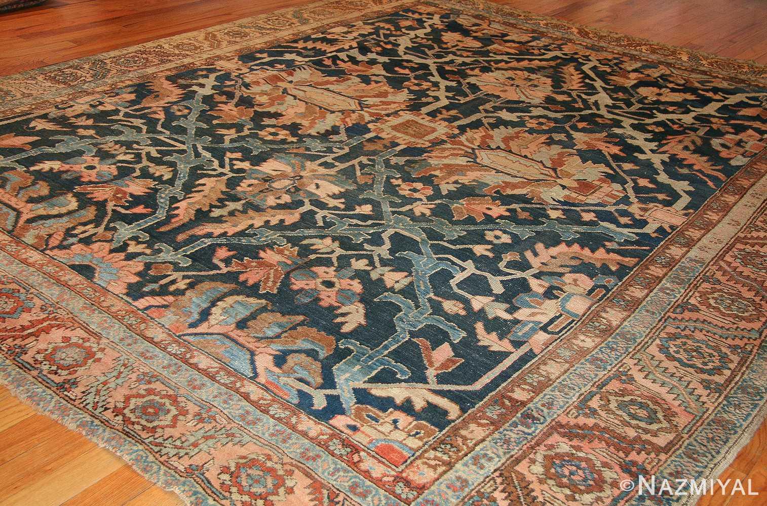antique blue persian heriz serapi rug 49175 whole Nazmiyal