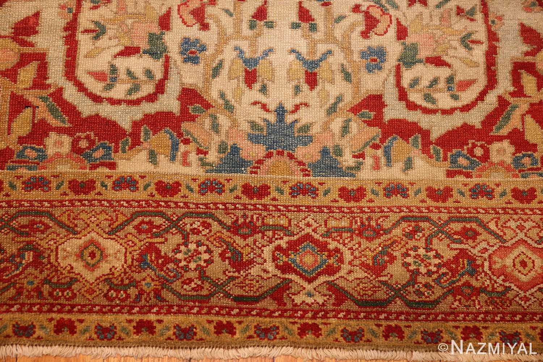antique ivory persian mishan malayer rug 48611 border Nazmiyal