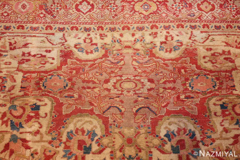 antique ivory persian mishan malayer rug 48611 design Nazmiyal