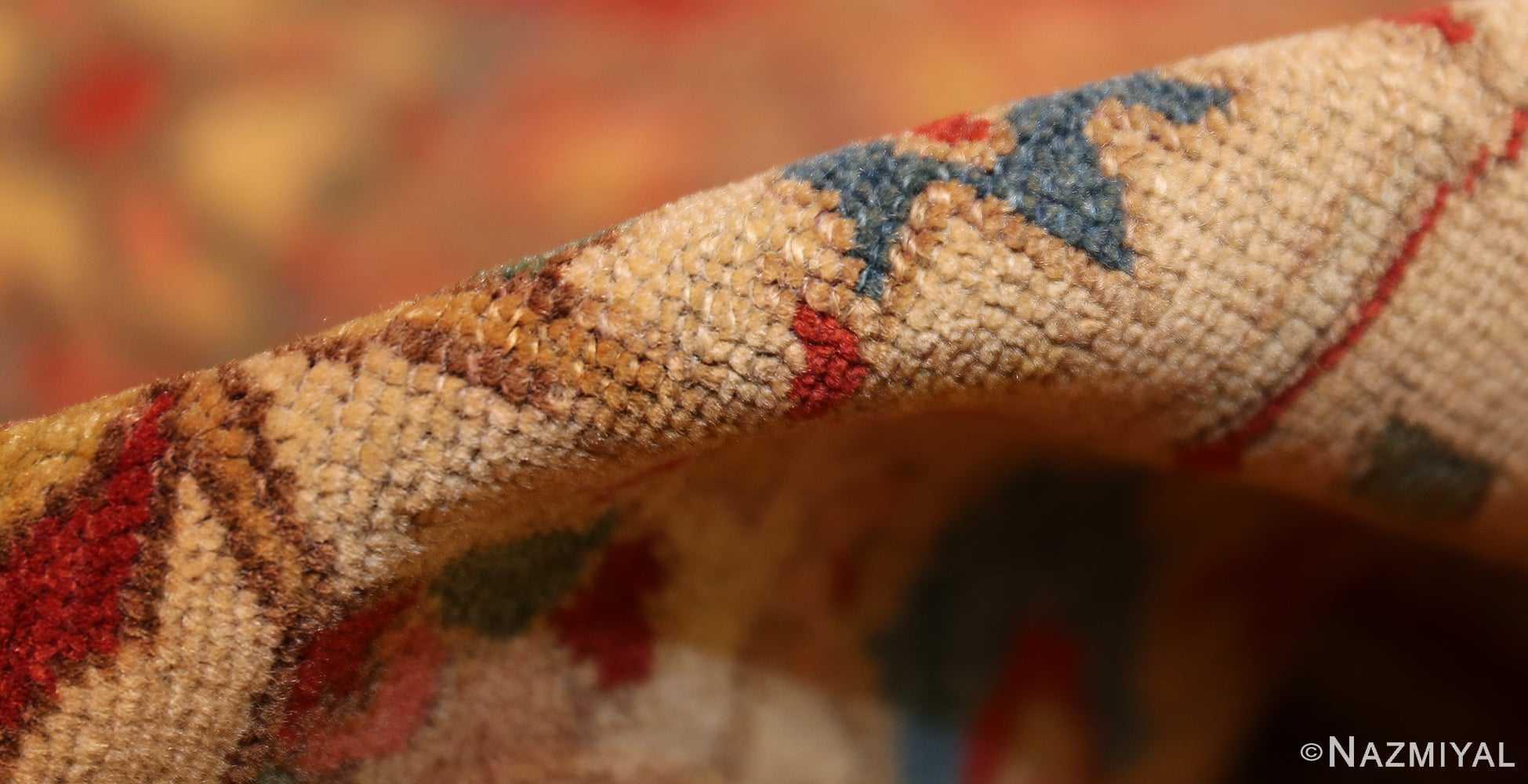 antique ivory persian mishan malayer rug 48611 pile Nazmiyal