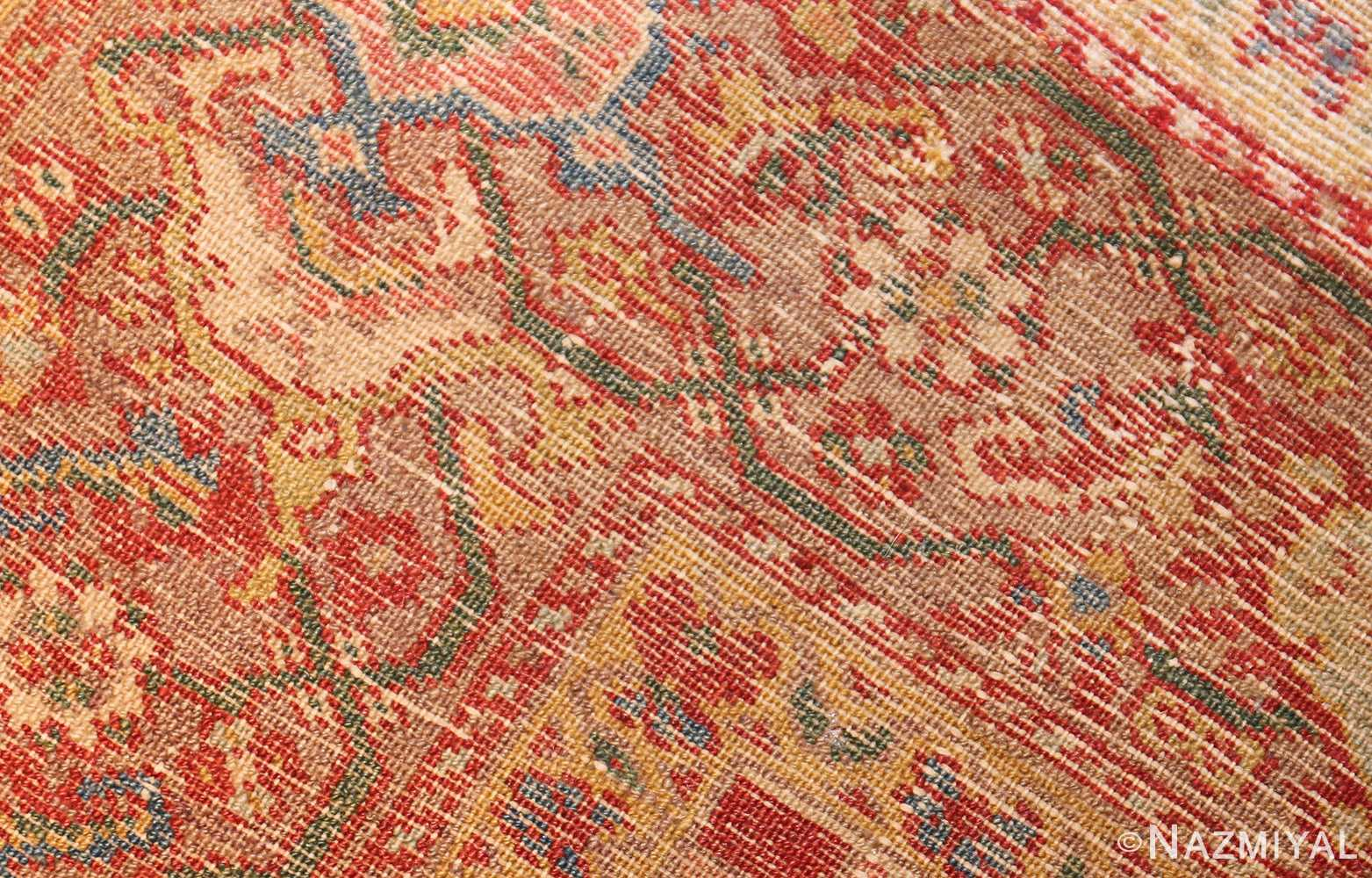 antique ivory persian mishan malayer rug 48611 weave Nazmiyal