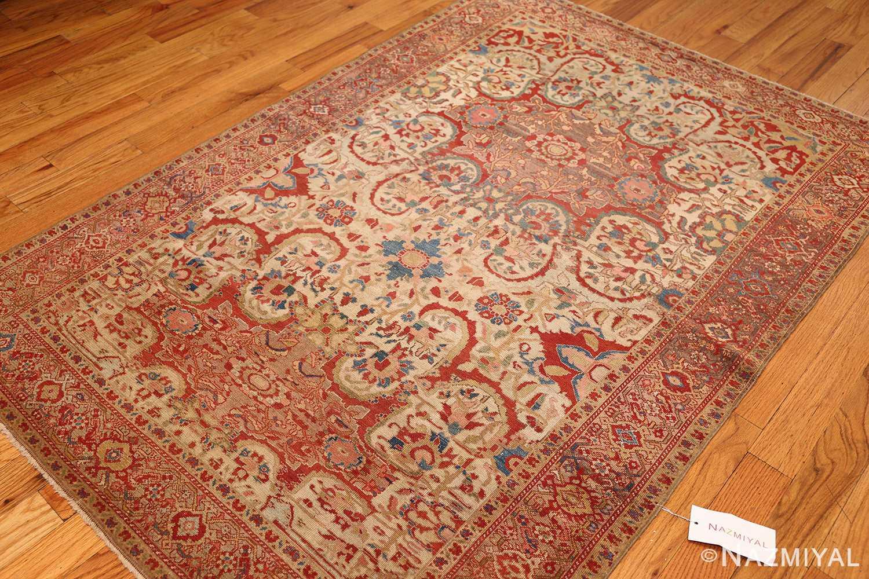 antique ivory persian mishan malayer rug 48611 whole Nazmiyal