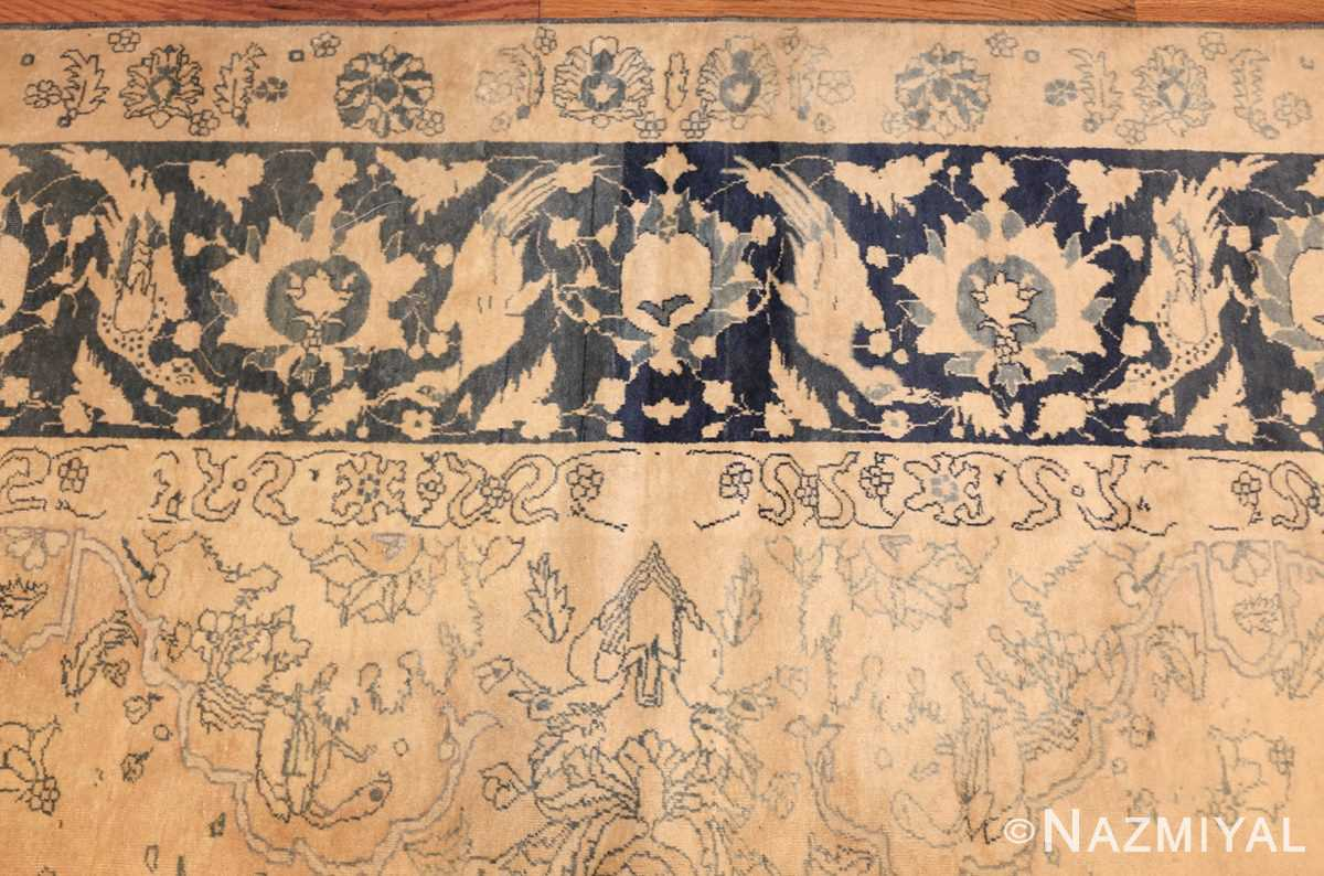 antique large indian agra rug 49167 border Nazmiyal