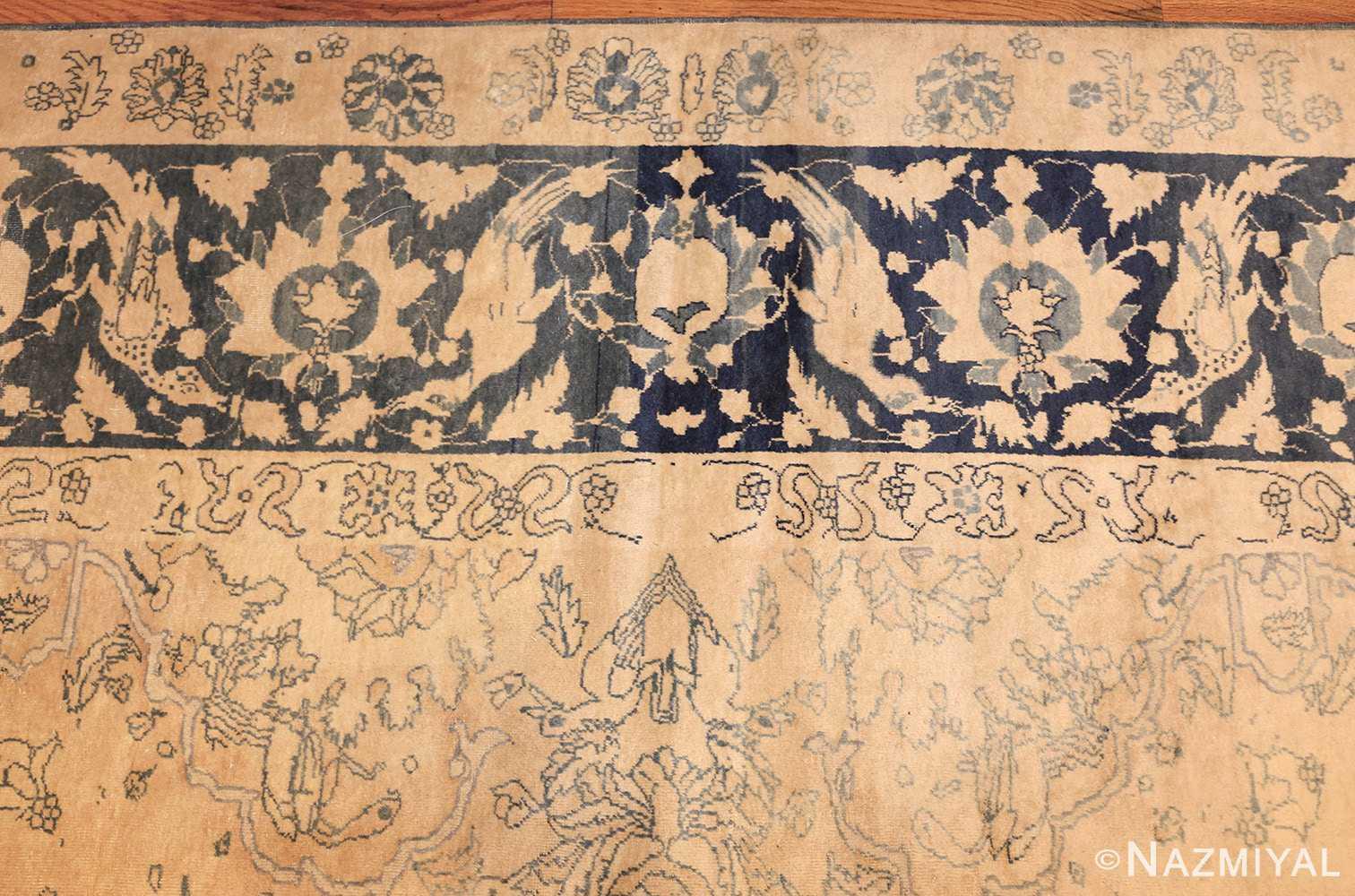antique large indian agra rug 49167 border Nazmiyal