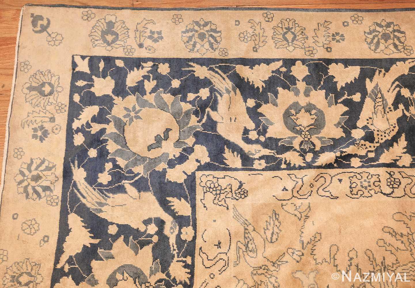 antique large indian agra rug 49167 corner Nazmiyal