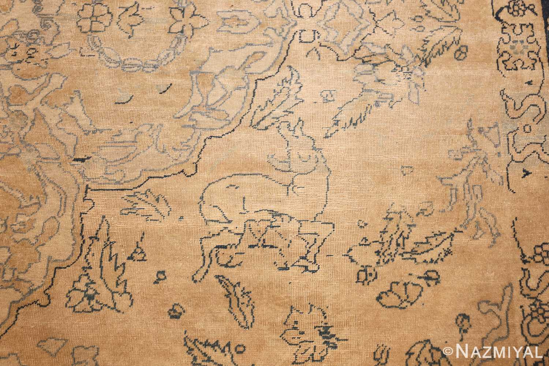 antique large indian agra rug 49167 goat Nazmiyal