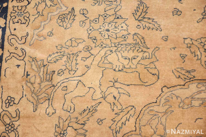 antique large indian agra rug 49167 hunt Nazmiyal