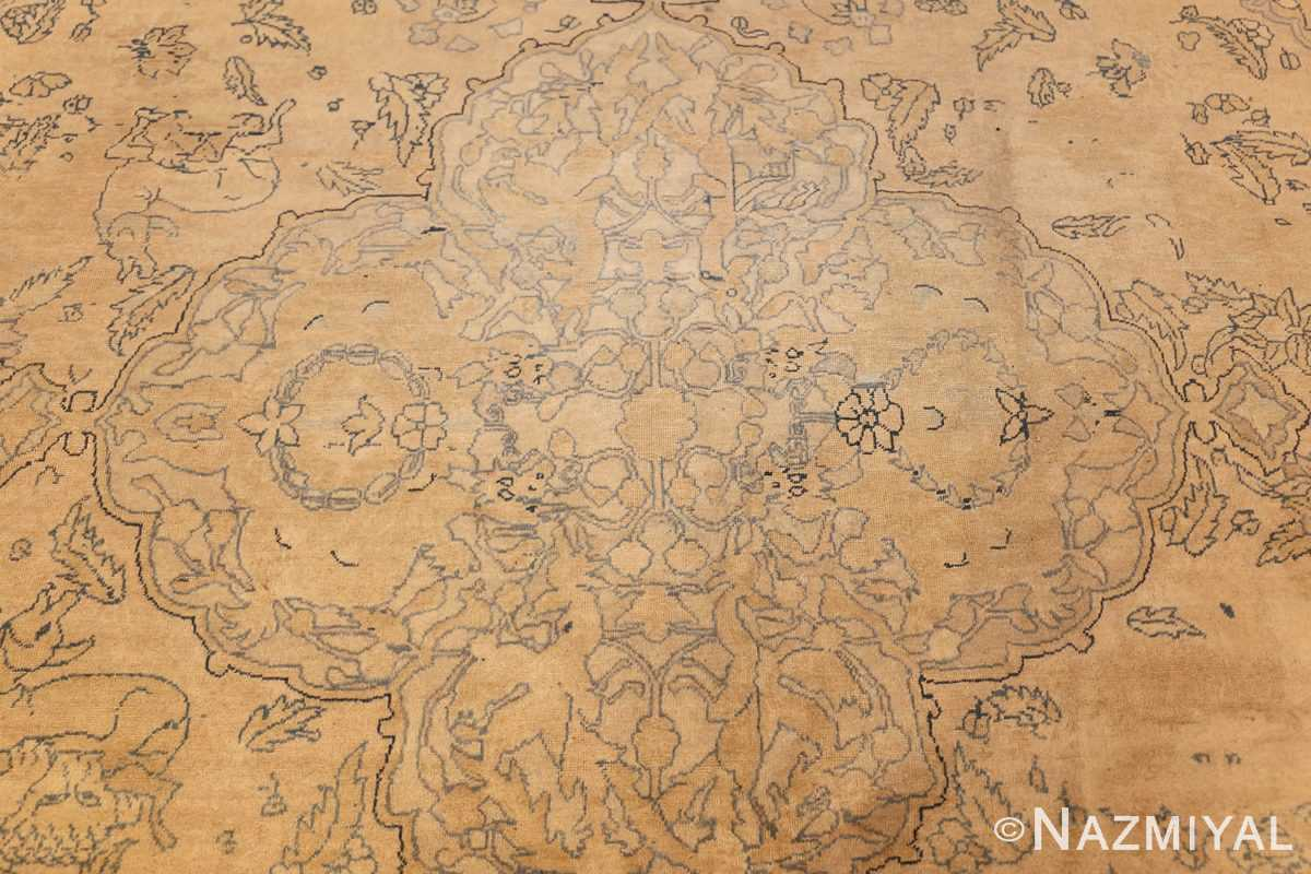 antique large indian agra rug 49167 medallion Nazmiyal