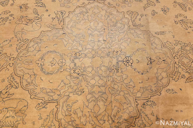 antique large indian agra rug 49167 medallion Nazmiyal