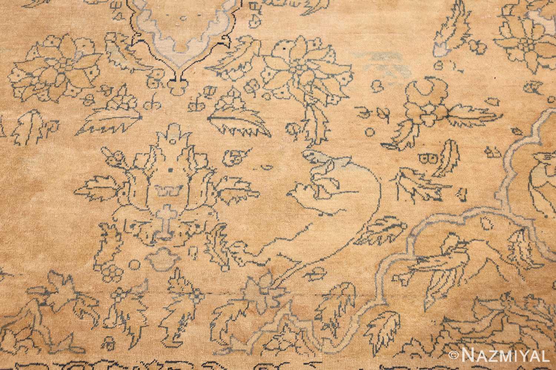 antique large indian agra rug 49167 predator Nazmiyal
