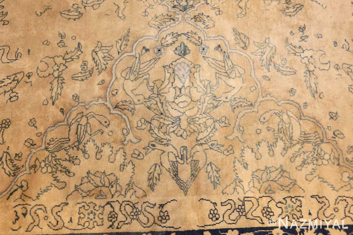 antique large indian agra rug 49167 side Nazmiyal