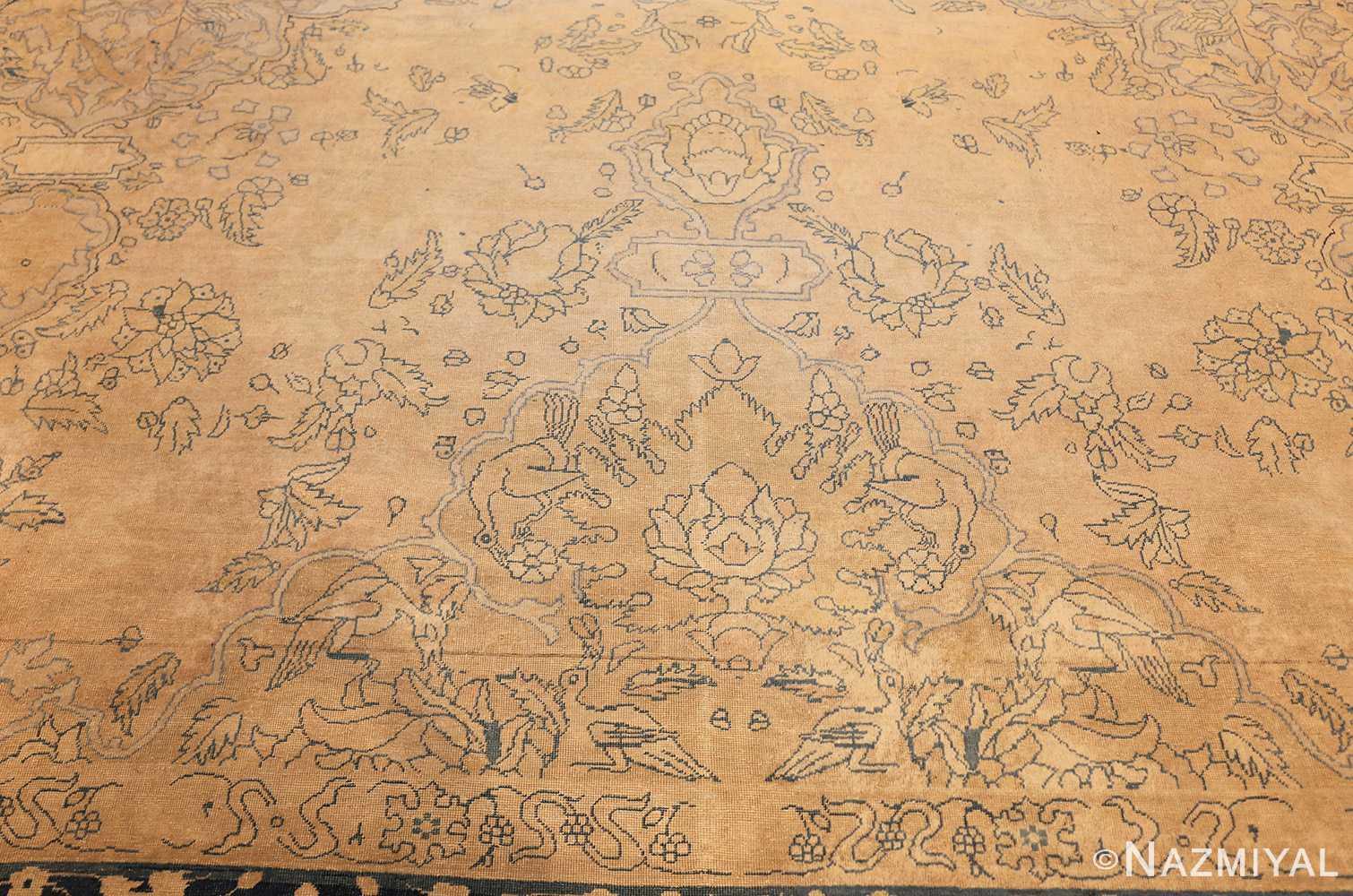 antique large indian agra rug 49167 top Nazmiyal